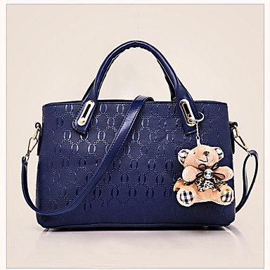 Moda femminile sopportare pressione quattro pezzi borsa borsetta con un sacco di donne a sacchetto,rosso Red