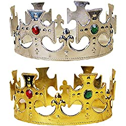 De Halloween Real del Oro Rey de plástico Príncipe de Accesorios de Vestuario para los niños