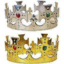 De Halloween Real del Oro Rey de plástico Príncipe de Accesorios de Vestuario para ...
