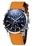 Montre Homme Montre Militaire Etanche Sport Chronographe Quartz Calendrier de Date Montres Bracelets...