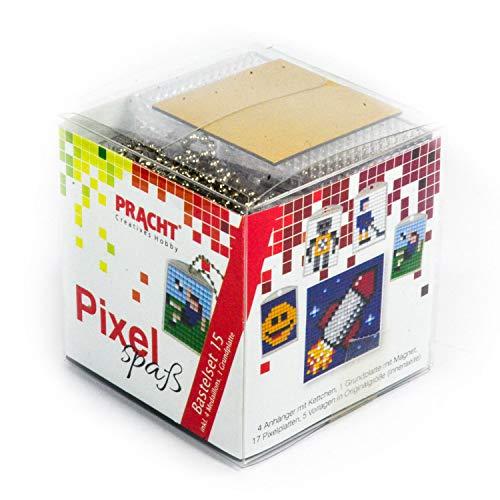 Pracht Creatives Hobby P90035-63501 - Juego de Manualidades para 4 medallones, Llavero, para niños, niños y niñas, como pequeño Regalo, para cumpleaños Infantiles