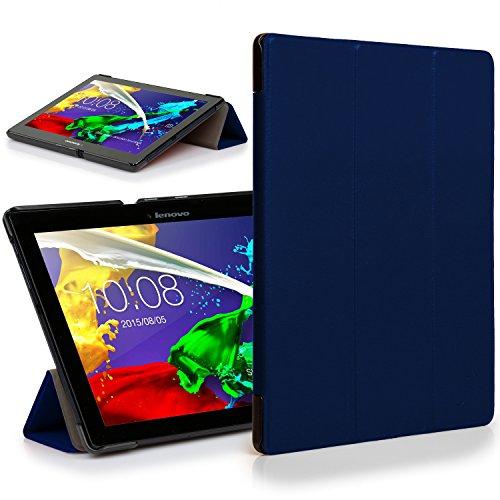 custodia tablet lenovo tab2 a10-30 Forefront Cases Lenovo Tab 2 A10-30 Custodia Caso Case Cover Pieghevole - Ultra Sottile Leggero con Protezione Dispositivo Completa (Blu Marino)