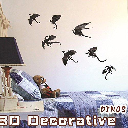 Halloween-Wand-Aufkleber 7-PC 3D Drachen-Wand-Aufkleber-Art- und Weiseentwurfs-Kunst-Abziehbilder Handwerks-Halloween-HauptPartei-Dekoration