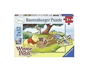 Ravensburger 07552 - Schöner Tag mit Disney Winnie the Pooh - 2 x 12 Teile Puzzle