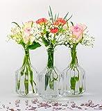 casa-vetro Lot de 12 Petits vases en Verre Halsi Vintage Weiß, 12 x