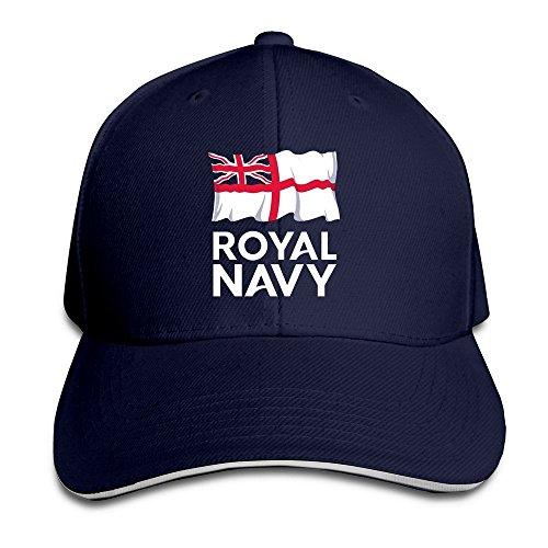 XCarmen Runy Custom Logo Of The Royal Navy Adjustable Sanwich Hunting Peak  Hat & Cap Navy