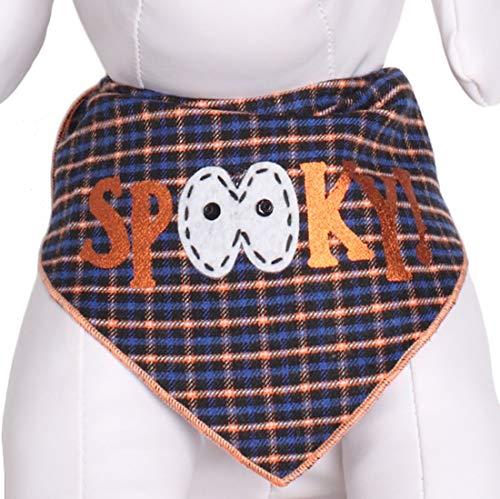 Schwanz Trends Halloween Hund Bandanas mit Designer Applikationen-100% Baumwolle, Medium, Spooky