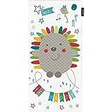 Pirulos 70613510 - Colchoneta recta microfibra, diseño espin, color blanco y lino