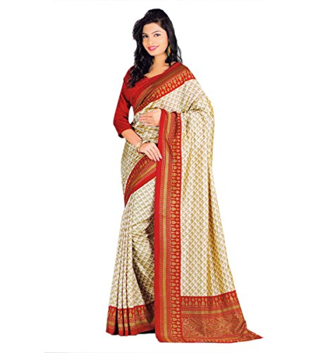 Miraan Printed Bhagalpuri Art Silk Saree for women with blouse | Party wear | Free Delivery