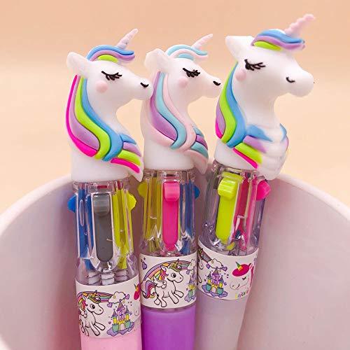 Gyrat, penna a sfera a forma di unicorno, 10 colori, per scuola, ufficio, regalo, cancelleria