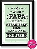 Die besten Papa Auszeichnungen - Papa kann es reparieren - Bild A4 mit Bewertungen