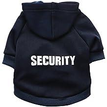 """Zrong Perrito del gato del animal doméstico del perro caliente """"SECURITY"""" encapuchado suéteres de la capa del traje de ropa de la ropa"""
