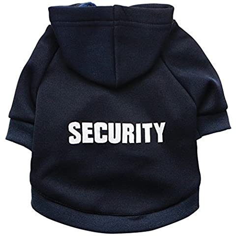 "Zrong Kleine Hunde Haustier Kleidung "" SECURITY "" Hoodie Warm Mantel Pullover Welpen Apparel"