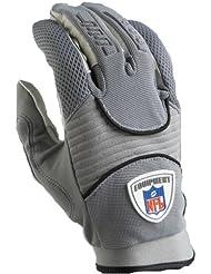 Reebok DZ III RF9019 - Guantes de receptor y corredor de fútbol americano, talla S, color gris
