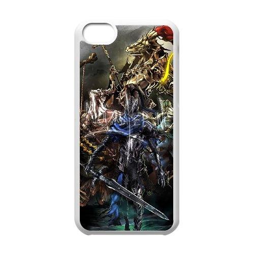 Dark Souls coque iPhone 5C Housse Blanc téléphone portable couverture de cas coque EBDXJKNBO15370