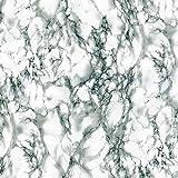PVC Tischdecke Marmor grau 2,5Meter (250cm x 140cm), bedruckt Marmor Stein Effekt, Off Weiß Grau, abwischbar, Vinyl/Kunststoff Tischdecke
