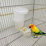 Moonbrid Futterautomat Automatische Lebensmittel Wasser Fütterung Trinker Papagei Pet Clip Dispenser Cage
