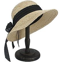 c9a5db22c1235 WELSUN Sombreros 100% del Sombrero del Sol del Sombrero de la Paja de la  Rafia