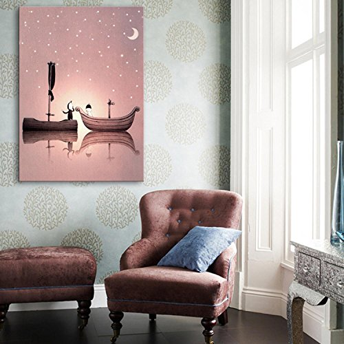 dos-barcos-de-fibra-de-pintura-decorativa-led-sin-marco-pintura-pintura-de-la-sala-de-estar-sala-de-