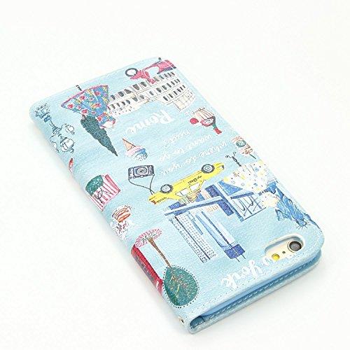 Sunroyal® Etui Housse iPhone 6 6S (4.7 pouces) Coque Sac Book Style Portefeuille Case Couvrir Swag Mince PU Cuir Leather Cas Shell Téléphone Accessories Protection Protecteurs D'écran Bumper Couvertur Pattern 28