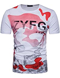 f677b6f1c76939 Sport Shirt Herren Kanpola Sommer Basic Sweatshirt Slim Fit Kurzarm Tee  Fitness Bluse