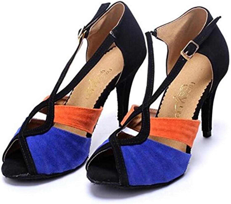 XIE Zapatos de mujer Terciopelo Salón de baile latín Taogo Baile Zapatillas Sandalias Tamaño 35 a 42, EU36