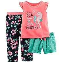 Pijamas de 3 piezas Carters para niñas pequeñas, sueños de bailarina Rosa rosa 2 años