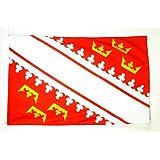 AZ FLAG Drapeau Alsace 150x90cm - Drapeau alsacien - Province d'Alsace 90 x 150 cm - Drapeaux