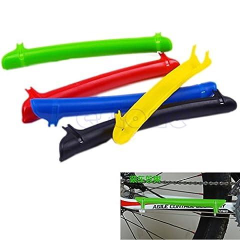 Dairyshop VTT Chaîne de vélo de cadre de base Plastique protecteur Guard Pad NEUF, Homme, Green