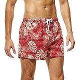 BañAdores De NatacióN Hombres De La Moda Troncos Transpirables PantalóN Estampado De Flores Pantalones Cortos De Playa Ropa De Abrigo Slim Wear