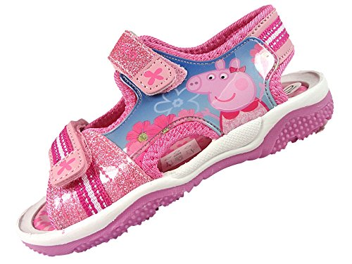 Girls Peppa Pig Pink Summer Sports Beach Sandals Trainer Shoes 5-10uk (7 UK)