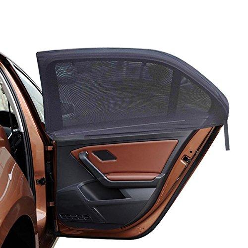 2ME Sonnenschutz Auto für Kinder Baby, Universelle Sonnenblenden für Deutsche Autos Seitenfenster mit UV Schutz - Max. to 126x52cm für Rand Rover Discovery und Mehr, 2 Stück