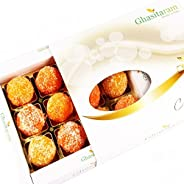 Ghasitaram Gifts Sweets- Coconut Laddoos in White Box 12 pcs