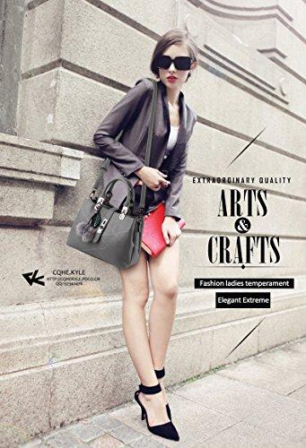 Nicole&Doris 2017 new wave packet Messenger bag ladies handbag female bag handbags for women(Gray)