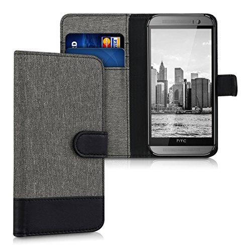 kwmobile HTC One M8 / Dual Hülle - Kunstleder Wallet Case für HTC One M8 / Dual mit Kartenfächern und Stand