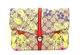 BLUGIRL Borsa clutch multicolore con fiori e tracolla