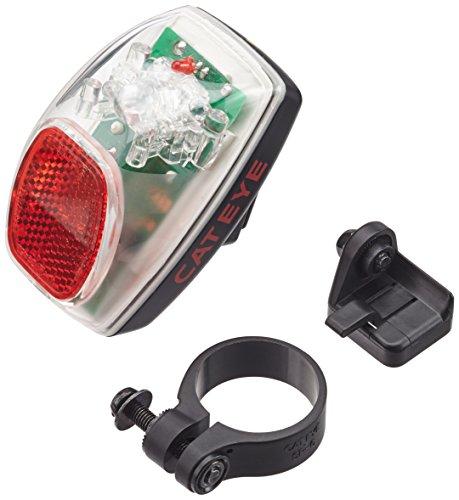 Cateye Batterielampe hinten TL-AU 100 G, schwarz/rot