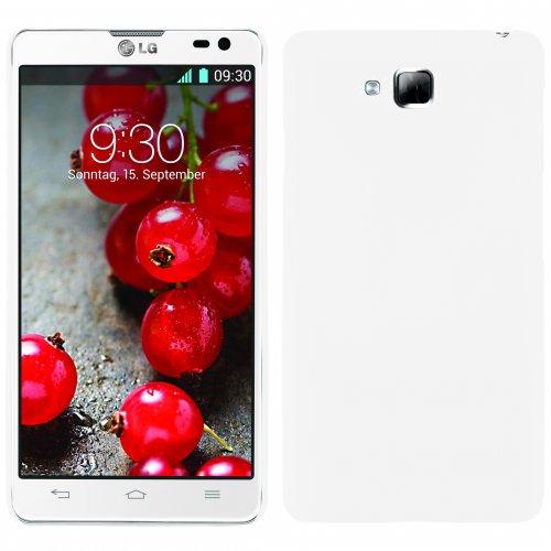 handy-point COBI Hülle aus gummiertem Kunststoff Kunststoffhülle Hülle Schale Schutzhülle Handyhülle Handyschale Hardcase für LG Optimus L9 2 in Weiss