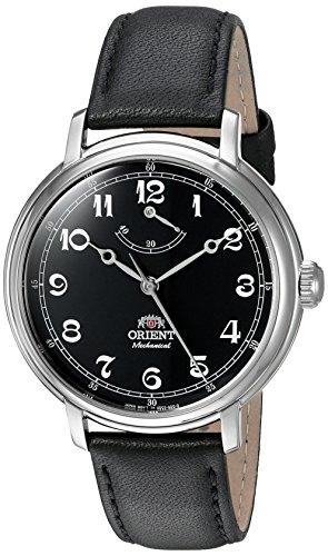 Orient Monarch Armbanduhr mit Handaufzug und schwarzem Zifferblatt und Batteriestands-Anzeige DD03002B