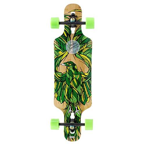 Mindless Longboards Mindless Raven III x Kook Talisman Longboard, Unisex Adulto, Green, Talla Única