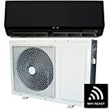 12000 BTU Black Smart Wall Mounted Split Air Conditioner with Heat Pump 5 meters pipe kit and 5 years warranty