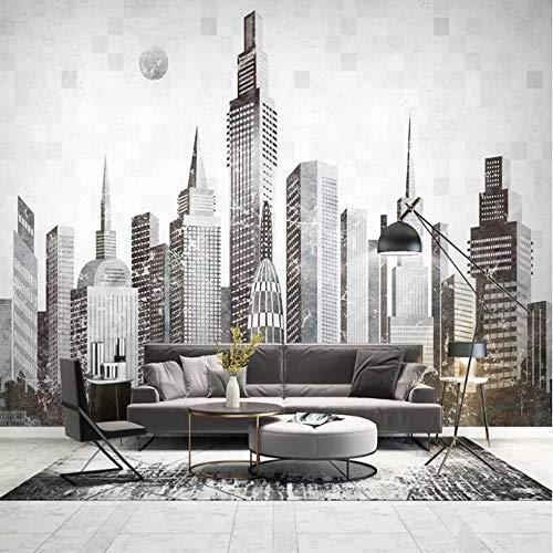 Cucsaistat Tapete Moderne Abstrakte Stadt Architektur 3D Tapete Dekorative Malerei Tapete Wohnzimmer Home Dekoration Vliestapete