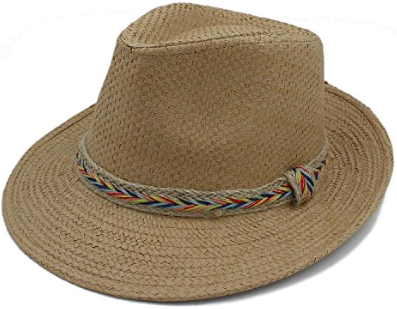 BAOJU Home Donna Cappello - Moda Donna Home Uomo Estate Toquilla Paglia  Panama Beach Cappello da a9e72eee45df