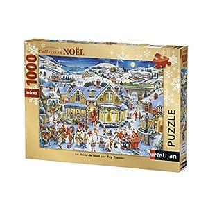 Nathan-Puzzle de Hadas de Navidad 1000Piezas, 87567