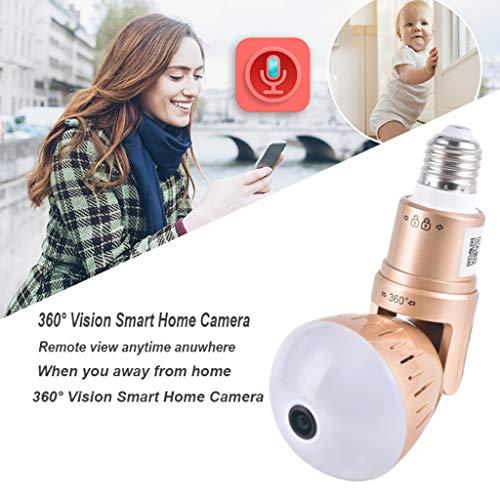 TianranRT★ 360-Grad-Panoramakamera Nachtsicht 1080 P Drahtloser Hdoro-Fernmonitor -