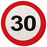 30. Geburtstag Verkehrsschilder Servietten 33 x 33 cm Papierservietten Partyservietten Geburtstagsservietten Papier Serviette Motivservietten Geburtstagsparty Tischservietten Einwegservietten