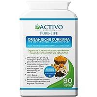 Kurkuma-Kurkumin m/schwarzem Pfeffer, Ingwer und mehr zur Schmerzlinderung und Unterstützung von Gelenken, der kognitiven Funktionen, Anti-Aging - entzündungshemmend, zusätzliche Antioxidantine, maximale Wirksamkeit 95%, Curcuminoide, beste Aufnahme