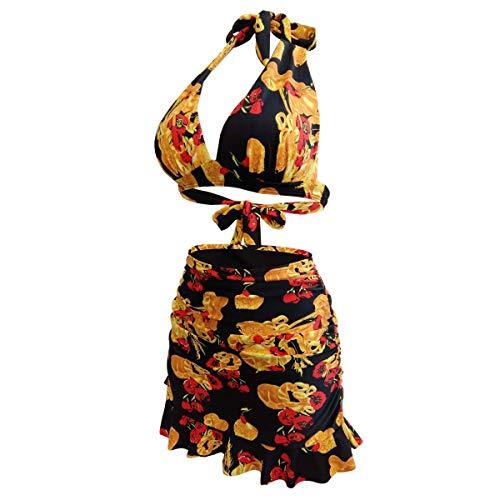 Yvonnelee Badeanzug fur Damen aus Stoff Material Endurance zweiteiliges Badeanzug Vorgeformte XXXL - 2