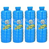 BUBBLE KIDZ 1 Litre Bubble Mixture Liquid Solution Refill Bottle with Bubble Wand included