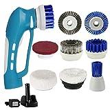 Elektrische Reinigungsbürste, Handheld Spin Scrubber mit 8 Bürstenköpfe und 1 wiederaufladbare High-Power Batterie IPX7 Wasserdicht Reinigung für Boden Küche Bad Ecke
